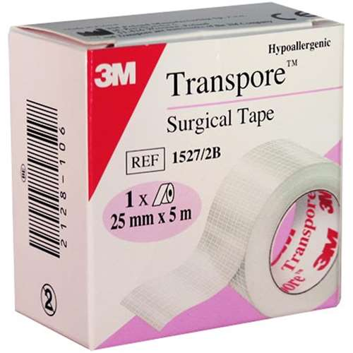Image of 3M Transpore Surgical Tape 25mm x 5m