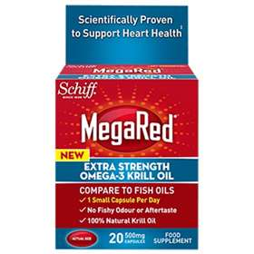Schiff Megared Omega-3 Krill Oil Extra Strength 20 Capsules 500mg