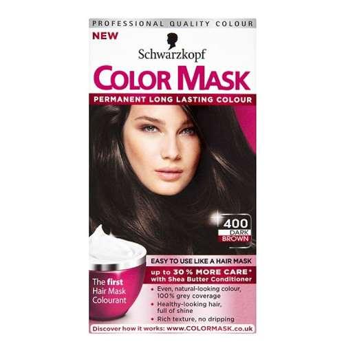 Image of Schwarzkopf color mask 400 dark brown level 3 permanent