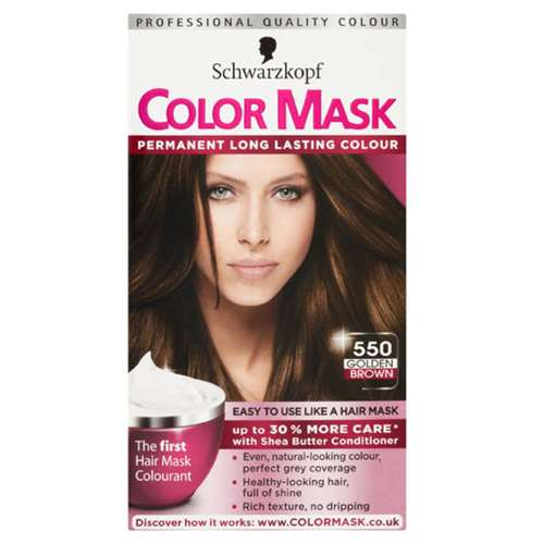 Image of Schwarzkopf color mask 550 golden brown level 3 permanent
