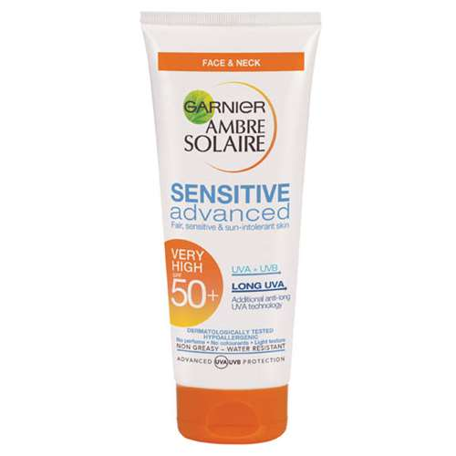Image of Ambre Solaire Sensitive Face and Neck SPF50+ 50ml