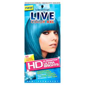 Schwarzkopf Live Color XXL HD High-Definition Ultra Brights Semi-Permanent 96 Turquoise Temptation