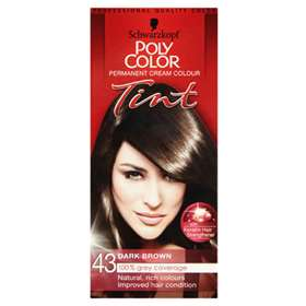 Schwarzkopf Poly Color Permanent Cream Colour Tint 43 Dark Brown