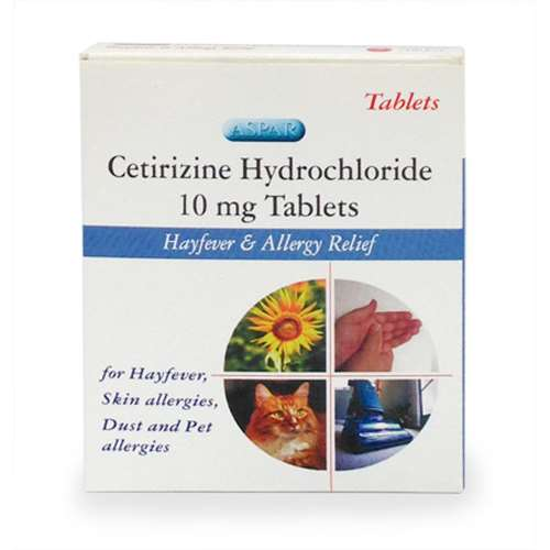 Image of Cetirizine Hayfever and Allergy Relief 10mg 7