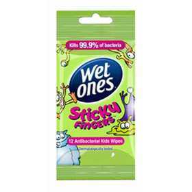Wet Ones Sticky Fingers Wipes 12