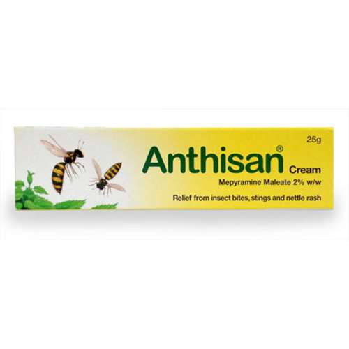 Image of Anthisan Cream Mepyramine Maleate 2% w/w 25g