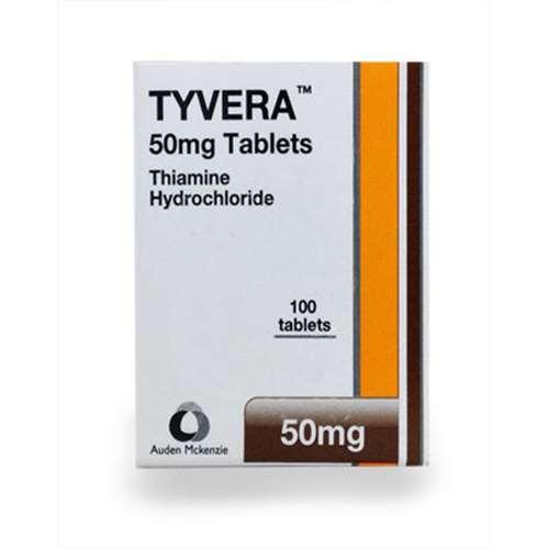 Tyvera Thiamine Hydrochloride 50mg 100 tablets