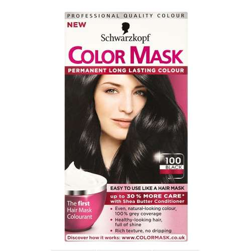 Image of Schwarzkopf color mask permanent 100 black