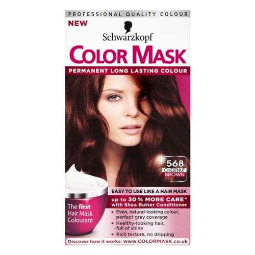 Image of Schwarzkopf Color mask Permanent colour 568 Chestnut Brown
