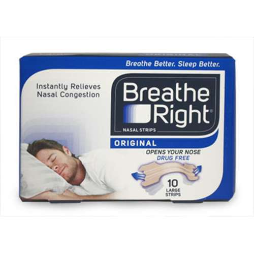 Image of Breathe Right Nasal Strips Tan Large