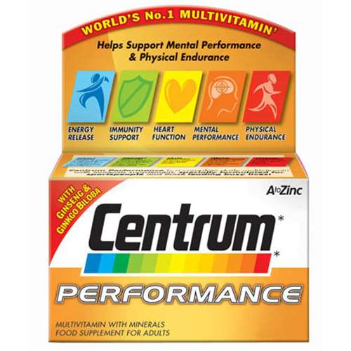 Image of Centrum Performance multivitamin tablets 60