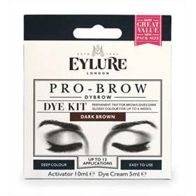 Eylure Pro-Brow Dye Kit Dark Brown Up To 12 Applications