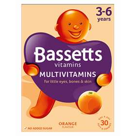 Bassetts Multivitamins 3-6 Years  One A Day 30  Pastilles