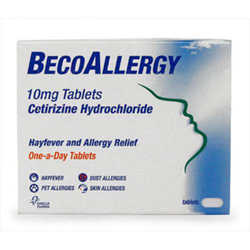 Image of Becoallergy Hayfever and Allergy Relief 10mg Tablets 30