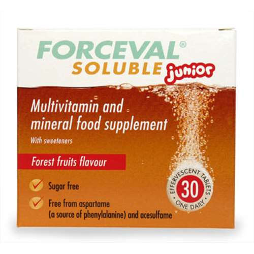 Forceval Soluble Junior Effervescent Tablets 30