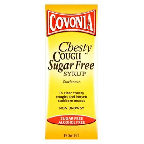 Image of Covonia Chesty Cough Sugar Free Syrup Non Drowsy 150ml