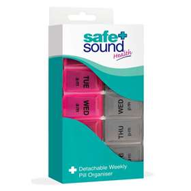 Safe and Sound Health Detachable Weekly Pill Organiser