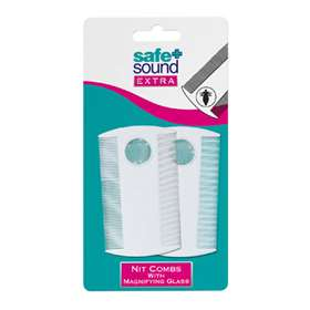 Safe + Sound Nit Combs With Magnifying Glass 2 pack SA2760