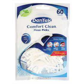 Dentek Comfort Clean Floss + Picks Fresh Mint 60