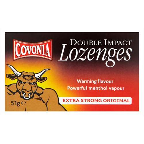 Image of Covonia Double Impact Lozenges Extra Strong Original 51g