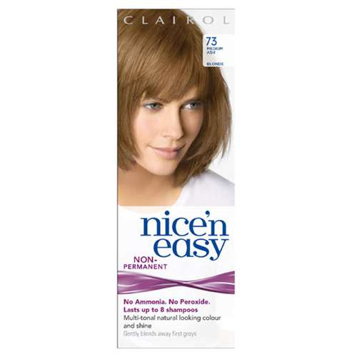 Image of Clairol Nice'n Easy Non-Permanent Hair Colour 8 Washes Medium Ash Blonde 73