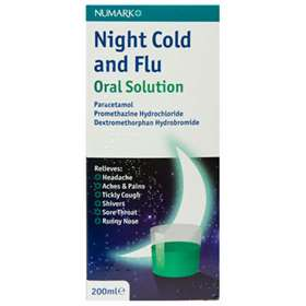 Numark Night Cold and Flu Oral Solution 200ml