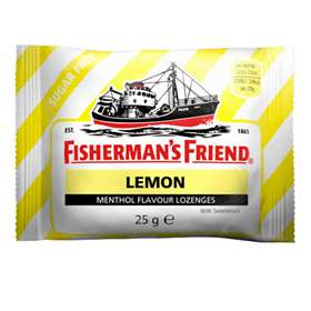Fisherman's Friend Lemon Menthol Flavour Lozenges 25mg