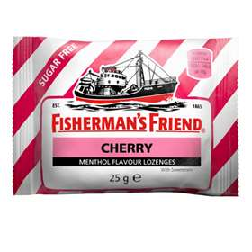 Fisherman's Friend Cherry Menthol Flavour Lozenges 25mg