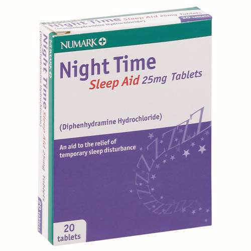 Numark NightTime Sleep Aid 25mg Tablets 20