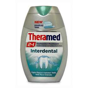 Theramed 2 in 1 Toothpaste and Mouthwash Interdental 75ml