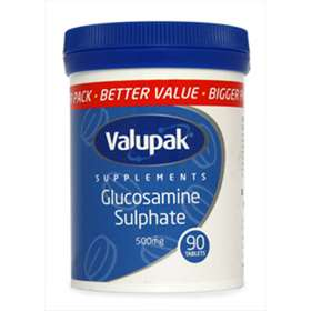 Valupak Supplements Glucosamine Sulphate 500mg 90 Tablets