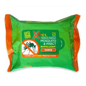 Xpel Tropical Strength Mosquito And Insect Repellent Wipes 25