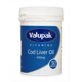 Valupak Vitamins Cod Liver Oil 400mg 30 Capsules