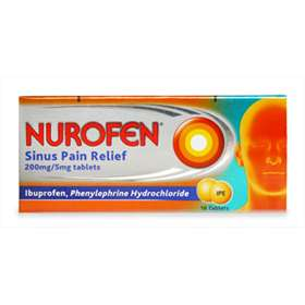 Nurofen Sinus Pain Relief 200mg/5mg Tablets 16