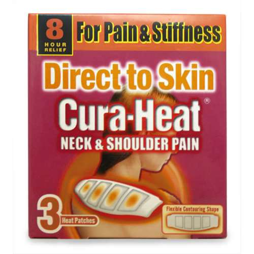 Image of Cura-Heat Direct to Skin Neck and Shoulder Pain Heat Patches 3