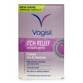 Vagisil Itch Relief Intimate Wipes 12