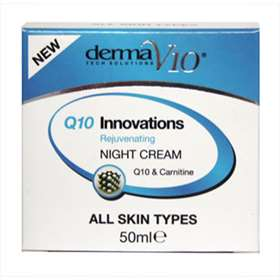 Derma V10 Q10 Innovations  Rejuvenating Night Cream 50ml