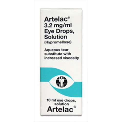 Image of Artelac 3.2mg/ml Eye Drops Solution (Hypromellose) 10ml