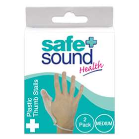 Safe and Sound Plastic Thumb Stalls Pack 2 Medium