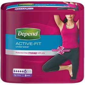 Depend Active-Fit Underwear for Women Large 8 Pants