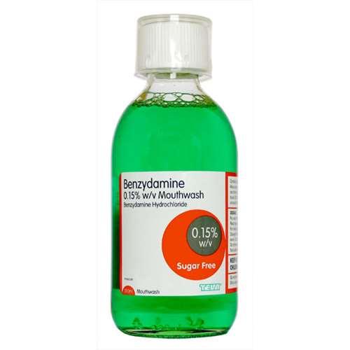 Image of Benzydamine Mouthwash Sugar Free 300ml