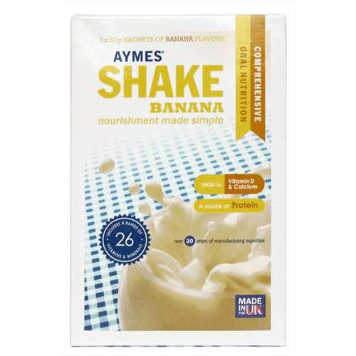 Image of Aymes Shake Banana 7 x 57g sachets