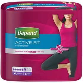 Depend Active-Fit For Women Incontinence Underwear XL (8)