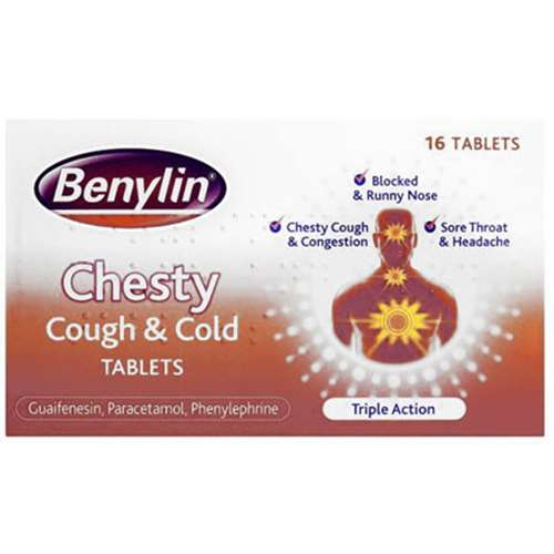 Image of Benylin Chesty Cough And Cold Tablets 16