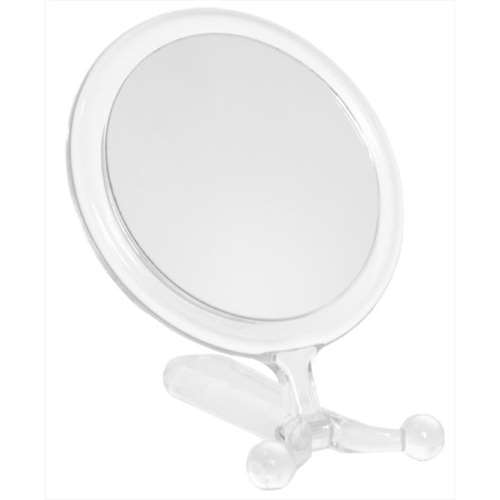 Image of Clear Framed 2 Way Hand/Stand Mirror