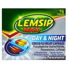 Lemsip Max Day and Night Cold and Flu Relief 16 Capsules