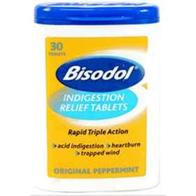 Bisodol Indigestion Relief Tablets 30 Original Peppermint ...