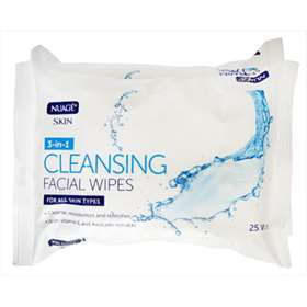 Nuage 3-In-1 Cleansing Facial Wipes Twin Pack 25 (x2)