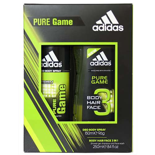 Image of Adidas Men's Pure Game Duo Gift Set Aerosol deod
