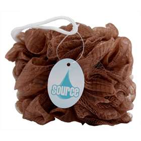 Wash Puff (Scrunchie) Brown